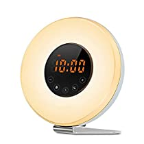 ALTMAN Wake Up Light, Sunrise Alarm Clock and Sunlight Simulation with 6 Nature Sounds,FM Radio and Touch Control,10 Brightness Levels, Snooze Function,7 Color Led Night Light Perfect forBedside