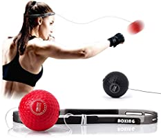 TEKXYZ Boxing Reflex Ball, 2 Difficulty Level Boxing Ball with Headband, Softer Than Tennis Ball, Suit for Reaction,...