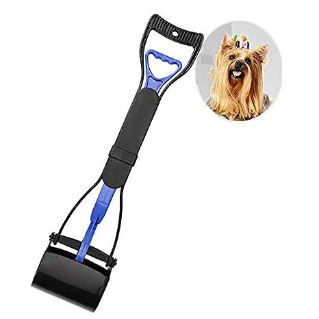 ASAB Long Handle Pet Dog Waste Pickup Poop Scooper Tool Easy Pickup Poop Grabber Poo Remover With Spring Loaded Jaw /& Serrated Teeth Bucket Scoop
