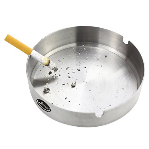 Ashtray, Newness Stainless Steel Tabletop Decoration Unbreakable Home Ashtray, 4.7 Inches (12 cm) (Stainless Steel Ashtray compare prices)
