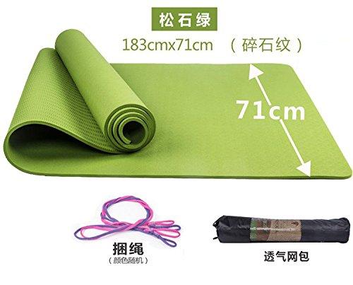 The stone vert 8Mm( Beginner) YOOMAT l'exercice d'entraîneHommest, l'Anti-Slip Pop-portable Tapis de Yoga Dur Méditation Naturel Tapis Haute Voyage non-Toxic113182