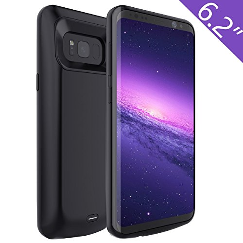 Samsung S8 Battery Case, Enligten 5500mAh Portable Charger Case Power Bank Extended Battery Backup Rechargeable Charging Cover Shell for Samsung Galaxy S8 (Black)