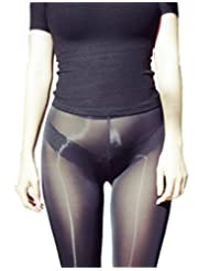 LinvMe Women's Sexy See Through Sheer Long Flare Pants Nylon Tight Legging