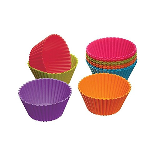 Colourworks Silicone Cupcake Cases 12 per pack - Pack of 6 by Colour Works