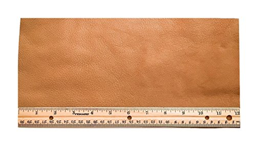 Upholstery Leather Piece Cowhide Lt Brown Lt Wt 1/2 (Light Upholstery)