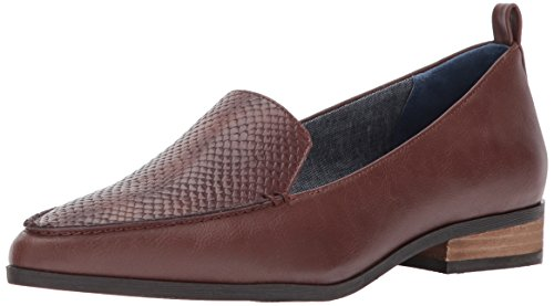 Dr. Scarpe Scholls Donna Elegante Slip-on Mocassino In Rame Marrone / Stampa Serpente