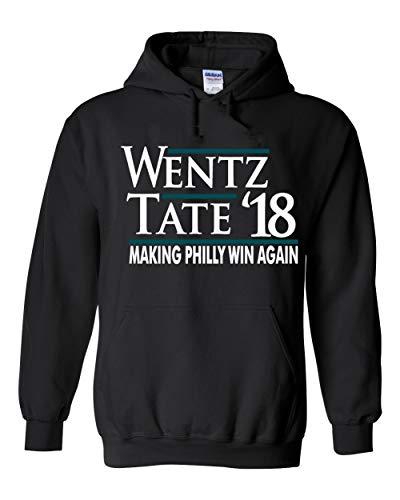 """PROSPECT SHIRTS Black Philadelphia Wentz Tate 18"""" Hooded Sweatshirt Youth"""