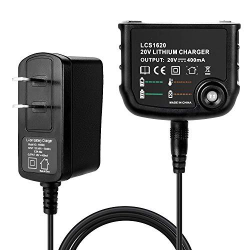 Epowon 20V Li-ion Battery Charger Adapter LCS1620 for Black+Decker 20V Lithium Ion Battery LBXR20 LBXR20-OPE LB20 LBX20 LBX4020 US