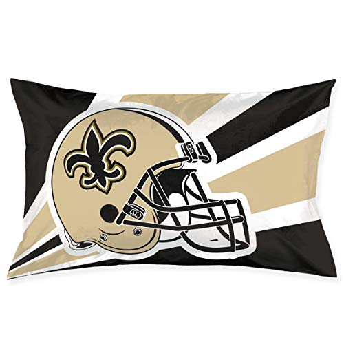 Marrytiny Custom Pillowcase Colorful New Orleans Saints American Football Team Bedding Pillow Covers Rectangular Pillow Cases for Home Couch Sofa Bedding Decorative - 20x30 -