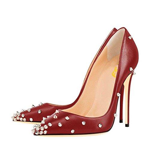 Niiteillä Punainen Prom Kengät Naisten Meitä Korkokengät 4 Fsj 15 Nro Teräväkärkiset Pumput qnBpPx1t