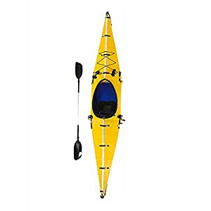Folding Portable Lightweight Kayak, One-Person Kayaking - High Performance for Fishing, Sailboats and Backcountry Trips (yellow)