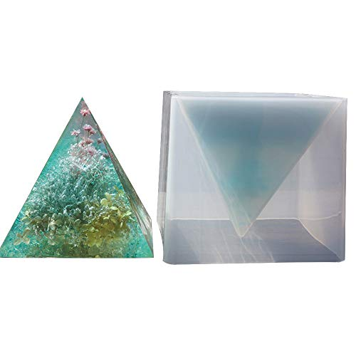 - Big DIY Pyramid Resin Mold Set, Large Silicone Pyramid Molds, Jewelry Making Craft Mould Tool, 15cm/5.9
