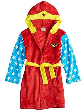 Amazon.com: DC Comics Wonder - Albornoz de forro polar para ...