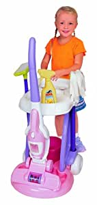 Pavlov'z Toyz Cleaning Cart with 2 In 1 Vacuum Cleaner Toy, Purple,Pink,White (Discontinued by Manufacturer)