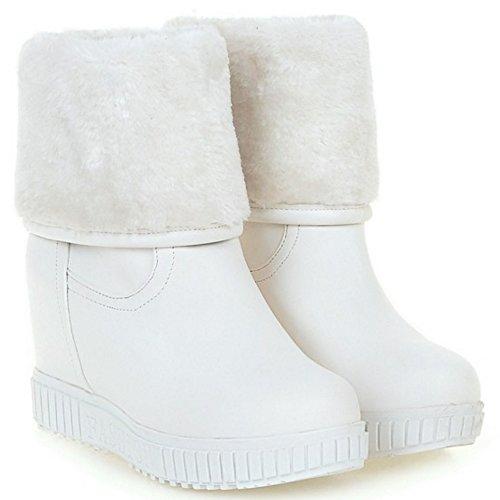 COOLCEPT Damen Hidden Heel Stiefel Ohne Verschluss White