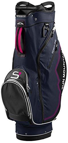 Sun Mountain Women's S-1 Cart Golf Bag, Navy/Black/Pink - Mountain Putter Golf Bag