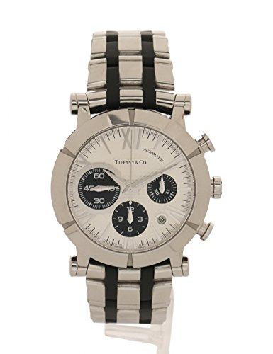 (ティファニー) TIFFANY & Co. アトラスジェント メンズ 腕時計 自動巻き SS シルバー 黒 クロノグラフ デイト 裏スケ 白文字盤 Z1000.82.12A21A00A 中古 B07FKFQSPY