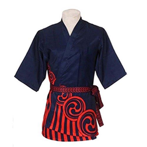 Japanese Style Sushi Bar Chef Uniform Work Clothes Waiter Apparel Bartender Uniforms Coats, E-15