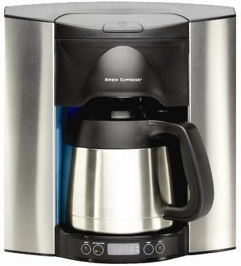 Programable 10 taza empotrable cafetera eléctrica por Brew Express ...