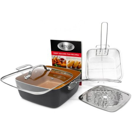 Gotham Steel Ceramic and Titanium Nonstick 9.5'' Deep Square Pan