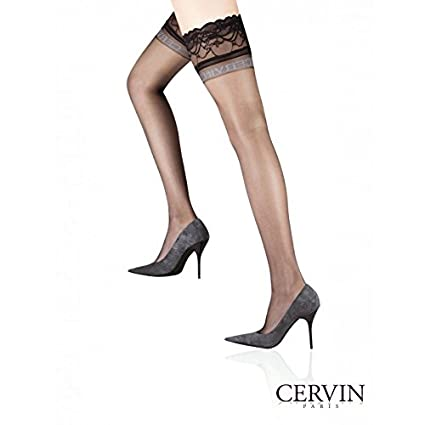 Cervin Women's Divine signature lace top thigh-highs B1018