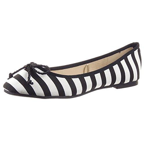 Ballerina Moda Lines Nero Caviglia Donna da Blocco cm Tacco Sopily Scarpe 1 a Nodo Alla fqtw60cEx