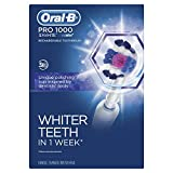 Oral-B Pro 1000 Electric Power Rechargeable Battery Toothbrush with Automatic Timer and 3D Brush Head, White