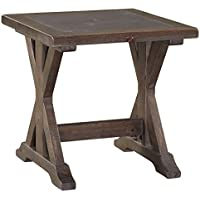 Signature Design by Ashley T816-2 Valkner End Table, Grayish Brown