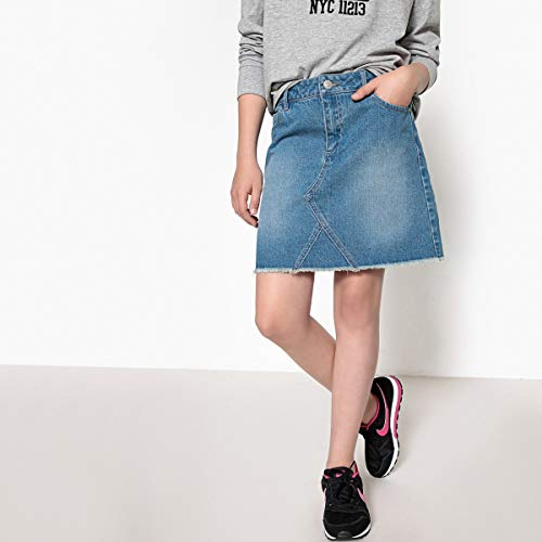 La Redoute Collections Denim Mini Skirt, 10-16 Years Blue Size 14 Years (156 cm) ()