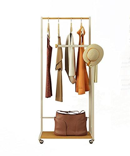 KKCF Floor Standing Coat Hat Rack Wood Rotatable Movable Sho
