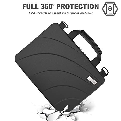 UZBL 11-11.6 inch EVA Always On Work-in Protective Laptop Sleeve and Case with Carrying Handle and Strap for Chromebook, Ultrabook and Notebooks, Designed for Students, Classrooms and Business by UZBL (Image #1)