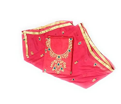 Best Choice Girls Punjabi suit dupatta for women's unstitched fabric cotton designer work