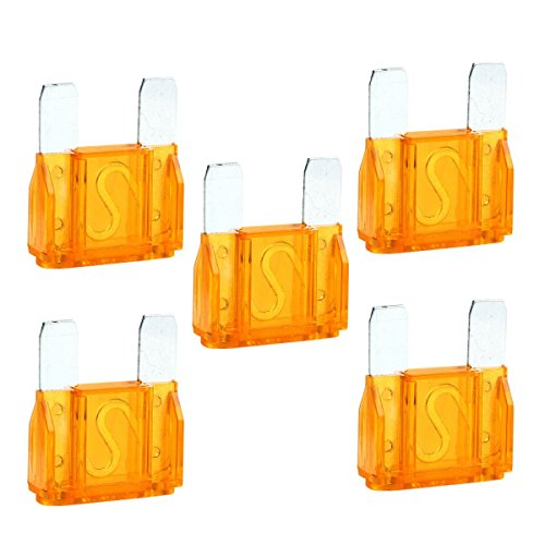 5 Pcs 40 Amp Large Blade Style Audio Maxi Fuse for Car RV Boat Auto
