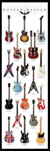 "Guitar Heaven - Door Poster (Classic Electric Guitars) (Size: 21"" x 62"") (Poster & Poster Strip Set)"