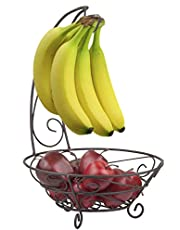 Home Basics-FB44059-Fruit Basket with Banana Tree-Bronze