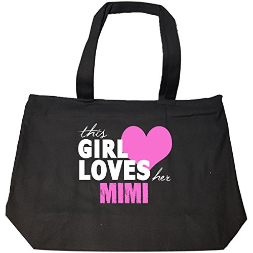 This Girl Loves Her Mimi - Tote Bag With Zip