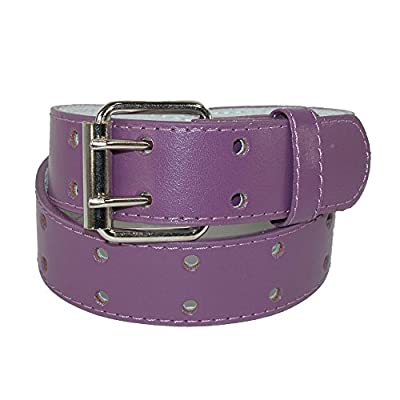 CTM Kids' Leather Two Hole Jean Belt (Pack of 2)