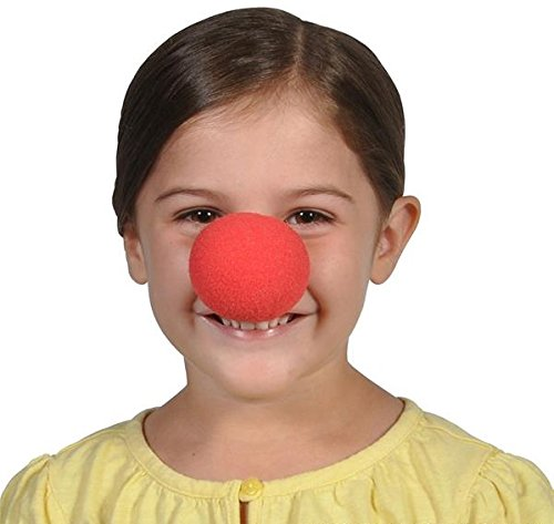 Ideas For Clown Costumes (Red Foam Clown Nose - Pack of 12 2 inches Cool and Fun Clown Costume Nose - Novelty & Gag Toys, Party Favor, Party Bag Stuffer, Party Giveaway, Gift Ideas- By Kidsco)