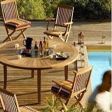 Table ronde Brehat Teck, 6/8 personnes -: Amazon.fr: Cuisine ...