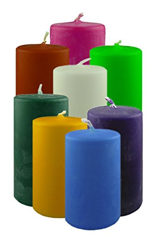 4,5 Kilo Bio - Stumpenkerzen aus Raps, Farb- und Größenmix, 2. Wahl Restposten Kerzen