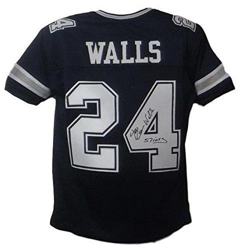 Signed Everson Walls Jersey - Size Xl Blue 57 Int 20633 - Autographed NFL - Int Denver