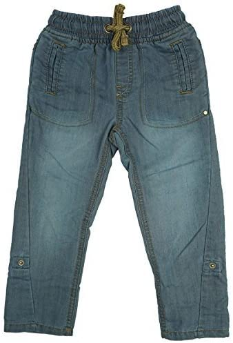 Get Wivvit Boys Baby Toddler Stretch Waist Pull on Turn Up Denim Jeans Sizes from 12 Months to 3 Years Blue