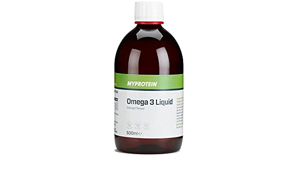 MyProtein Super Strength Omega 3 Líquido, Sabor Fresa - 500 ml: Amazon.es: Salud y cuidado personal