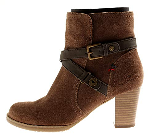 Marron Cuir Bottines Femmes En 7833 Bottine Hiver Booty Tom Chaussures Tailor w7pvII