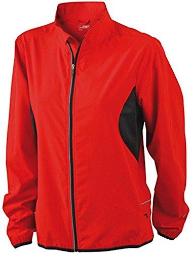 Ladies 'Running Chaqueta Ligera Mujer unidad/Sport Chaqueta * Color: Varios Colores * (Tallas S–XXL) rojo, negro