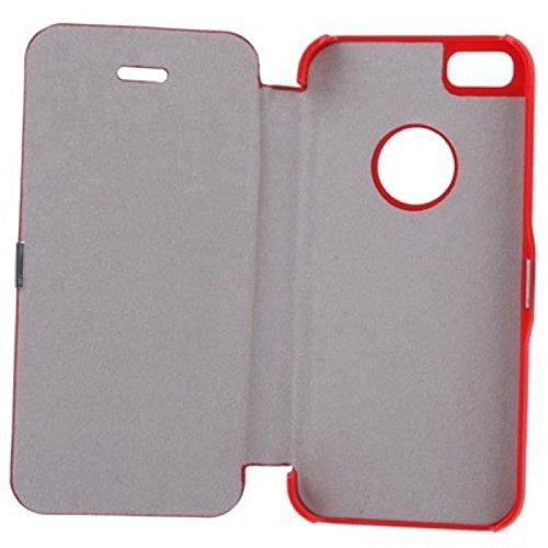 König Boutique Housse Coque de protection Case Cover Coque bumper etui pour Apple iPhone se Rouge Neuf
