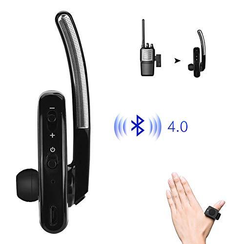 Single Bluetooth Wireless Walkie Talkie Headset Earhook Earphone Two Way Radio Headphone, M-Shape Structure, Noise Canceling for Motorola Blackbox TAIT ABELL FEIDAXIN-FDC HYT