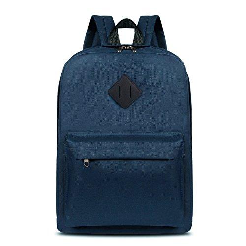 ThiKin Lightweight Backpack Boys & Girls Junior High School Bags Student Bookbags (JS-B031-blue)