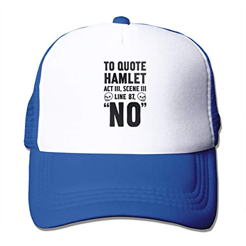 Rppuer to Quote Hamlet Act III, Scene Iii Line 87, No Adjustable Printing Mesh Cap for Men&Women Blue One Size
