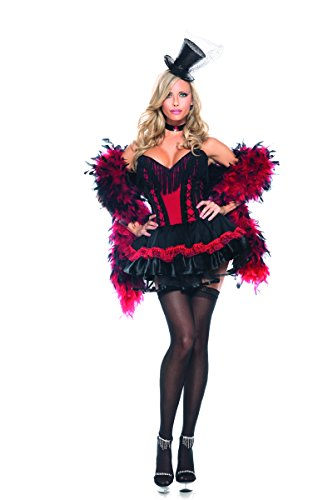 [Adult Women's 2 Piece Burlesque Moulin Rouge Halloween Party Costume] (Moulin Rouge Costumes)